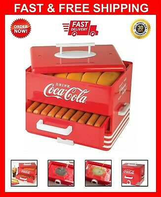 Large Hot Dog Steamer Warmer Cooker Machine Bun Food Sausages Electric
