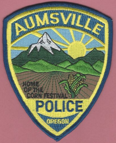 AUMSVILLE OREGON POLICE SHOULDER PATCH