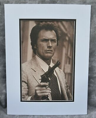 Clint Eastwood Double-Matted Heavy Stock Photo Display 12