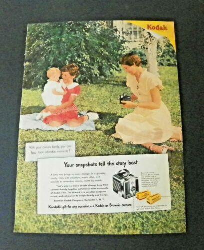 1950 Kodak Brownie Camera Color Ad