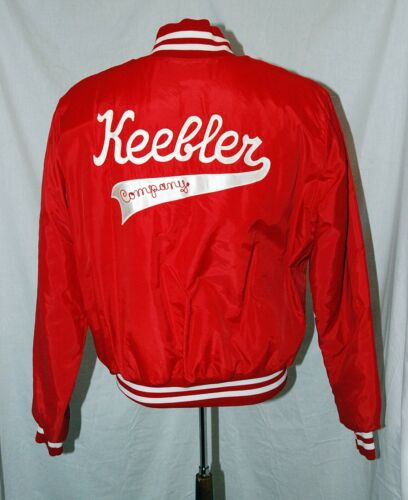 RARE Keebler Company Lined Red Jacket  Size Large