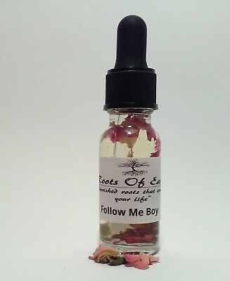 FOLLOW ME BOY OIL ATTRACTION LOVE HOODOO SPELL CONJURE RITUAL WICCA MOON OCCULT