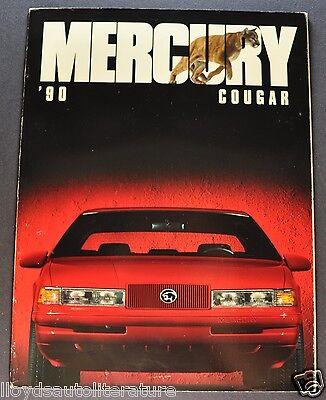 1990 Mercury Cougar Catalog Sales Brochure LS, XR7 Excellent Original 90