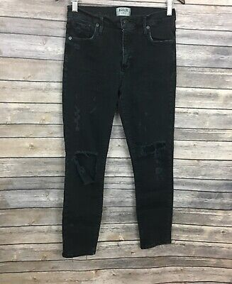 A Gold E Black Distressed Jeans (Size: 28)