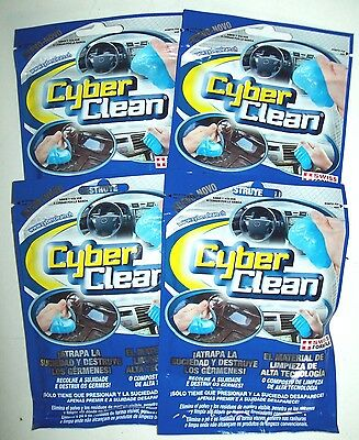 4 PACKS! BLUE CYBER CLEAN SUPER HIGH TECH CLEANING COMPOUND. AUTO, HOME & OFFICE