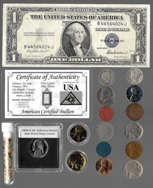 Silver Dollar Mercury Barber Indian Liberty WWII US Coin Collection Lot Gold Pl.