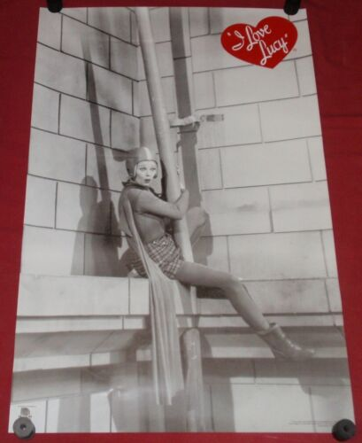 I Love Lucy Poster 22 x 34 Lucille Ball Television star Film Superman clip  S/S