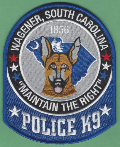 WAGONER SOUTH CAROLINA POLICE K-9 UNIT SHOULDER PATCH