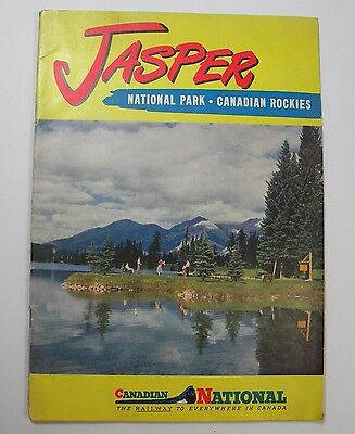 1951 Canadian National Railway Jasper National Park Canadian Rockies Travel Book