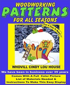 WHOVILLE CINDY LOU HOUSE CHRISTMAS YARD ART PATTERN WOOD WORKING DECORATION