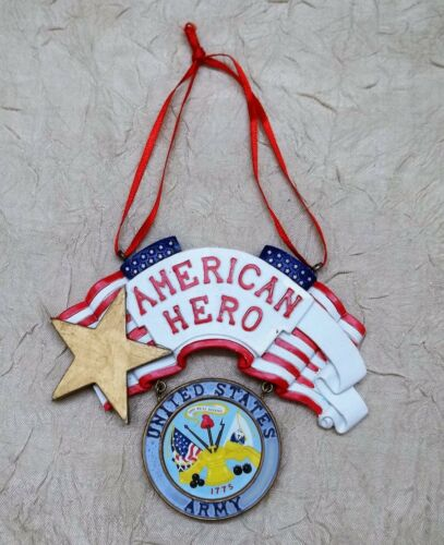 United States Army American Hero Resin Christmas Ornament Holiday