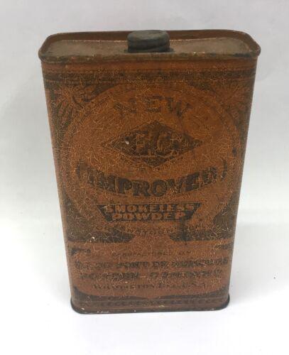 Antique E.C Improved Dupont   Shotgun Gun Wilmington Delaware Powder Tin