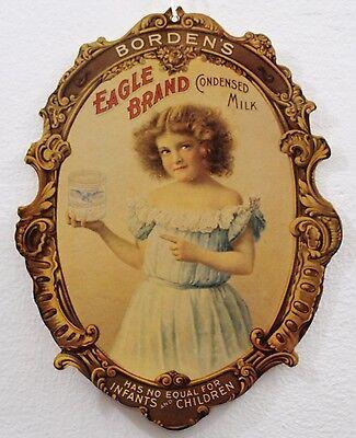 Advertising Borden's Eagle Brand Condensed Milk Dairy Sign Borden Card-stock