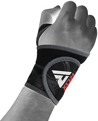 RDX Neoprene Silicon Wrist Support Thumb Brace Gym Weight Lifting Straps Wrap R2