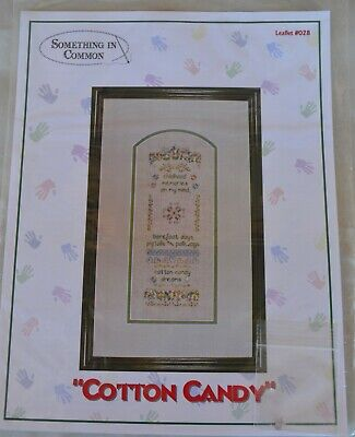 Something in Common COTTON CANDY Sampler Childhood Memories Cross Stitch Pattern