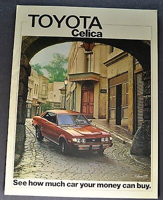 1975 Toyota Celica Catalog Sales Brochure GT ST Nice Original 75