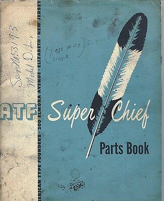C1956-60 Atf American Type Founders Parts Book Super Chief Offset Printing Press