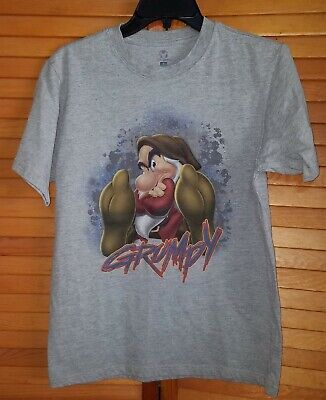 Grumpy Snow White and the Seven Dwarfs T-Shirt Disney Store Adult Size Small - Adult Snow White And The Seven Dwarfs