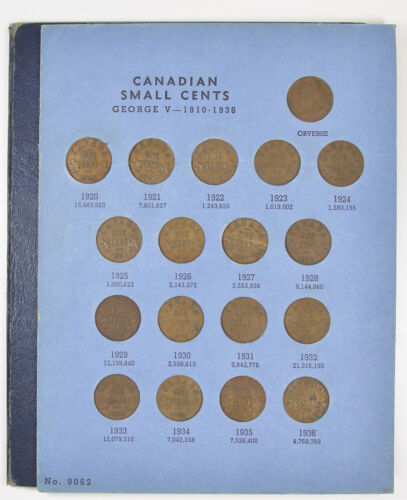 1920 - 1969 Canada Canadian Small Cent Collection Set ~Free Shipping~
