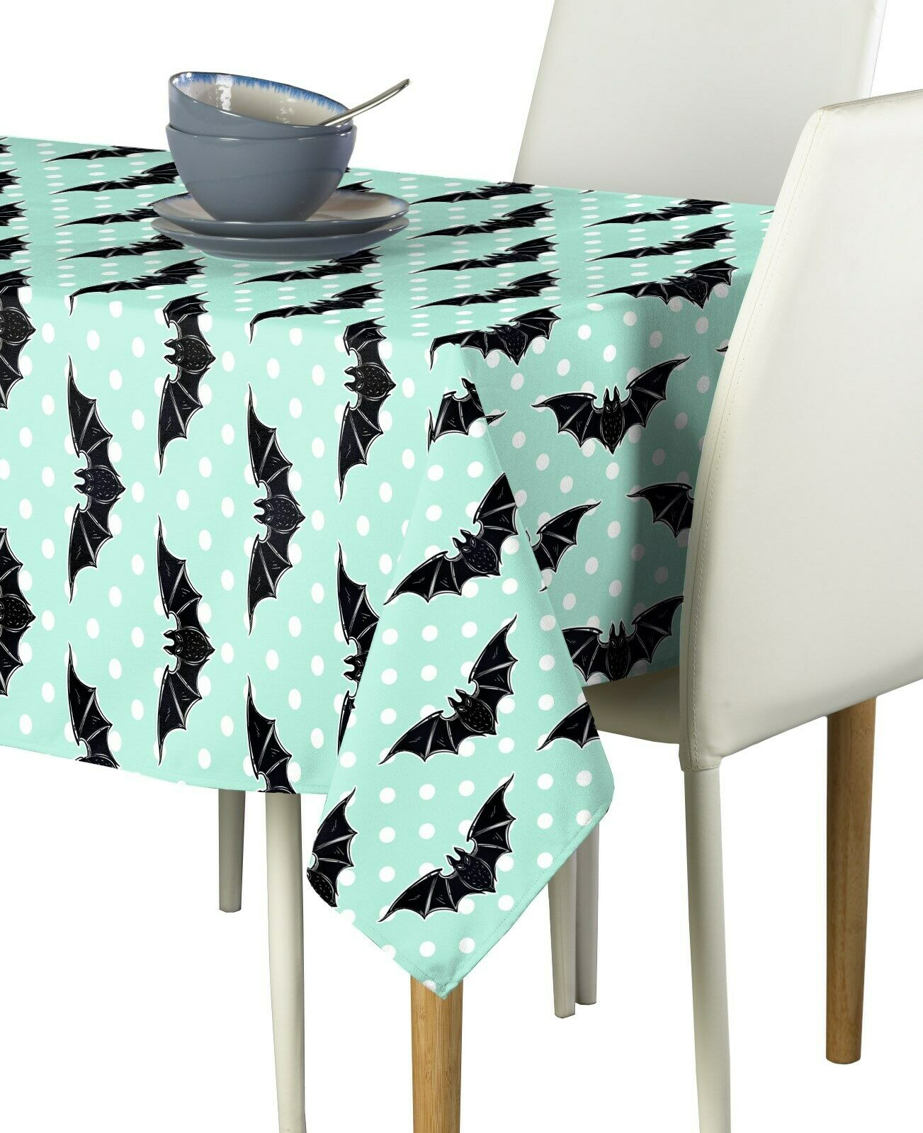 halloween bats and dots fabric tablecloths assorted