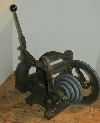 Vintage Atlas Lathe Motor Mount With Counter Shaft And Pulleys Model Th42 Lqqk