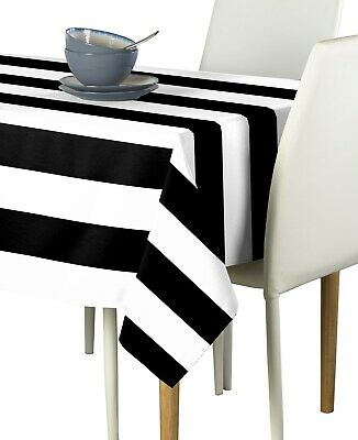 Black And White Striped Tablecloths (Black & White Cabana Stripe Signature Tablecloth Assorted)