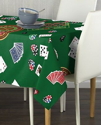 Casino Night Signature Tablecloth Assorted Sizes - Casino Table Cloths
