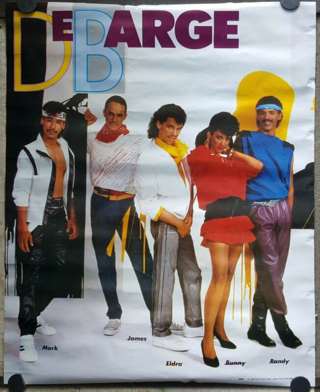 Debarge poster 1984 ORIGINAL unused approx 24 x 28 rare 80