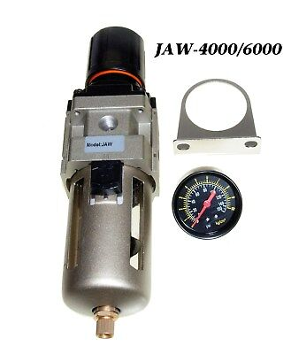 New 34 Compressed Air Filter  Pressure Regulator With Water Trap