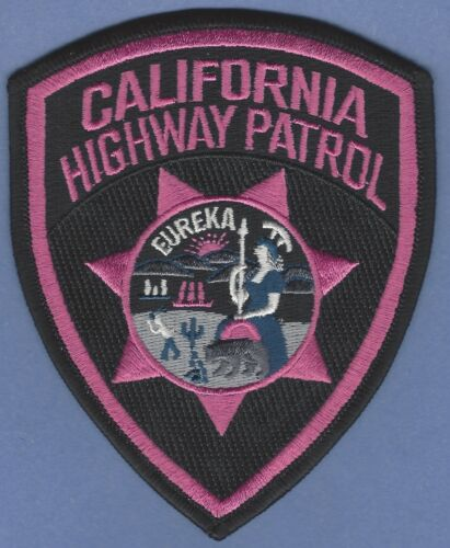 CHP CALIFORNIA HIGHWAY PATROL SHOULDER PATCH PINK CANCER AWARENESS