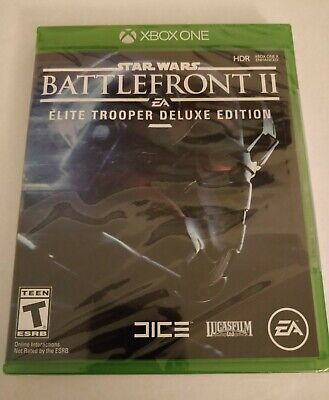 New SEALED Star Wars: Battlefront 2 Xbox One, 2017 Elite Trooper Deluxe Edition