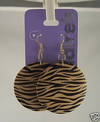 Claires Sensitive Solutions Earrings Tiger Print Round