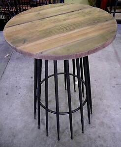 New Recycled Timber Rustic Round Bar Tables Industrial Metal Melbourne CBD Melbourne City Preview