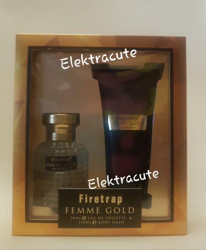Firetrap+Femme+Gold+Xmas+Gift+Set+For+Her+Eau+De+Toilette+50ml+Bodywash+150ml