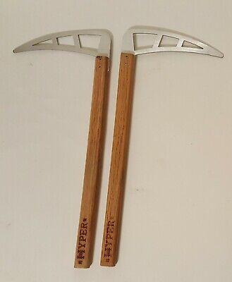 Pair of Martial Arts Training Kamas by HYPER Wood Handle Aircraft Aluminum Blade