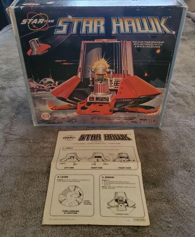 "1977 ""ZEROIDS"" Orig. IDEAL STAR TEAM ""STAR HAWK"" Zeroid Ship BOX & INSTRUCTIONS"