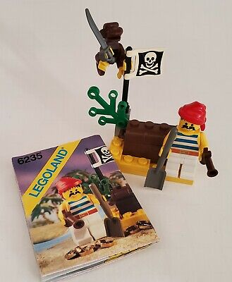 6235 Lego Pirates Buried Treasure, vintage year 1989 w/ instructions manual