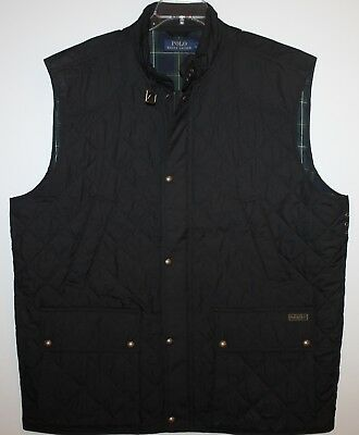 8f53a3a04 Polo Ralph Lauren Big and Tall Mens Black Quilted Down Jacket Vest NWT  275  2XLT