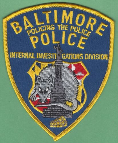 BALTIMORE MARYLAND POLICE INTERNAL INVESTIGATIONS DIVISION PATCH