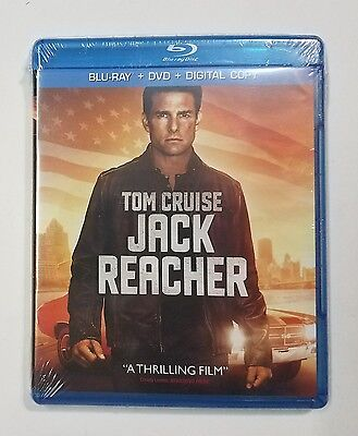 Jack Reacher Two Disc Blu Ray   Dvd   Digital Copy Tom Cruise New Retail Sealed