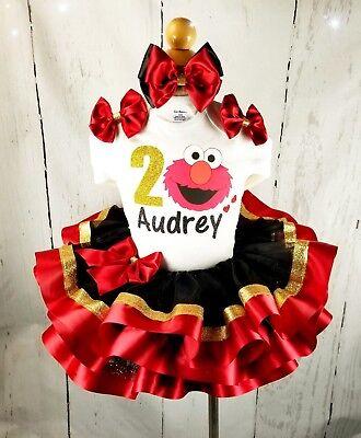 Elmo tutu, Birthday tutus, elmo birthday tutus, tutus, - Elmo Tutu