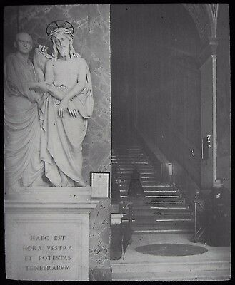 Glass Magic Lantern Slide CHURCH OF SAINT PIETRO C1900 PHOTO ROME ITALY