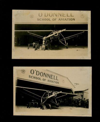 2-ORG 1927 photos Spirit of St. Louis at Long Beach CA O