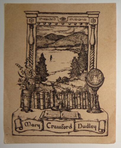 Mary Crawford Dudley Ex-Libris Bookplate