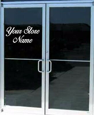 Custom Business Name Lettering Vinyl Sticker Sign Window Door Glass 12x22
