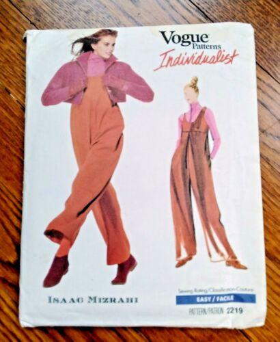 ISAAC MIZRAHI Vogue Individualist Pattern 2219 Jacket Jumpsuit UNCUT Size 8