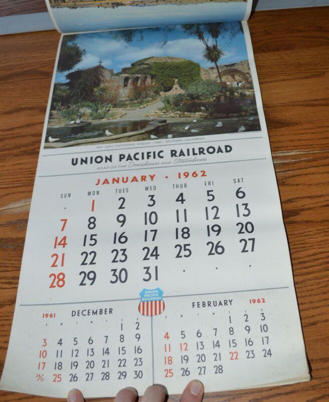 1962 Union Pacific Railroad Calendar Complete