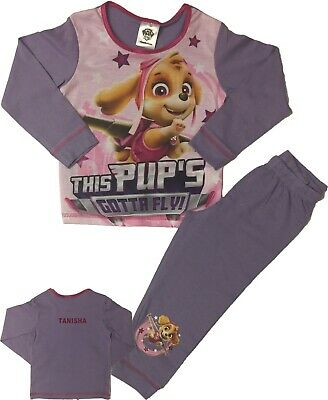 Girls Paw Patrol Pups Pyjamas Pjs Can Be Personalised With Name](Paw Patrol Puppy Names)