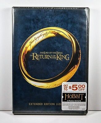 Lord Of The Rings  Return Of The King  2 Disc Extended Edition Dvd   Ws     New