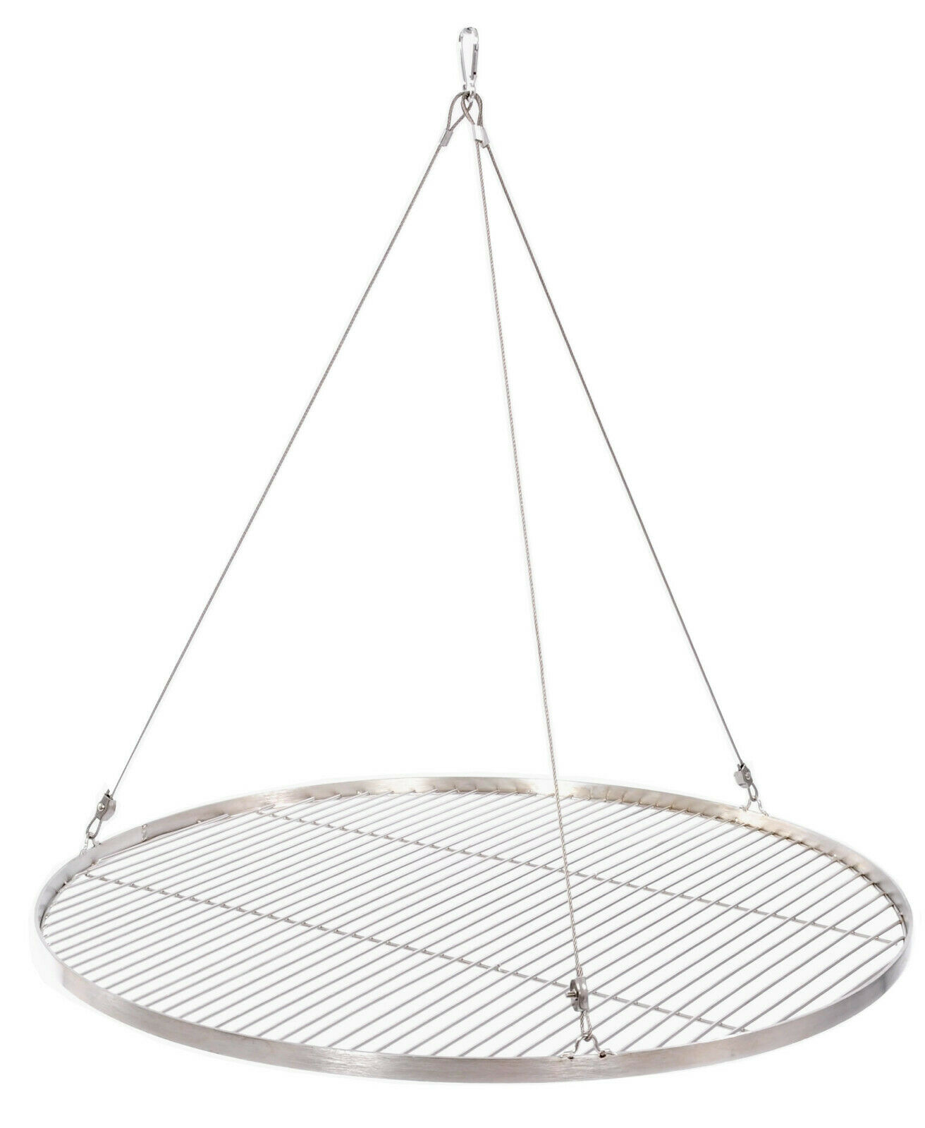 Grillrost Edelstahl 14 mm mit Seil 20 30 40 45 47 50 55 57 60 65 70 75 80 cm
